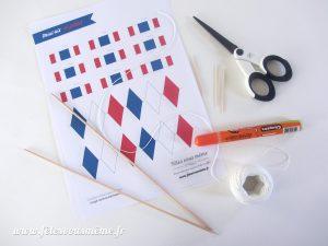Guirlande de drapeaux tricolores - matériel - Fêtes vous même