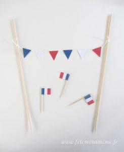 Guirlande de drapeaux tricolores 2 - Fêtes vous même