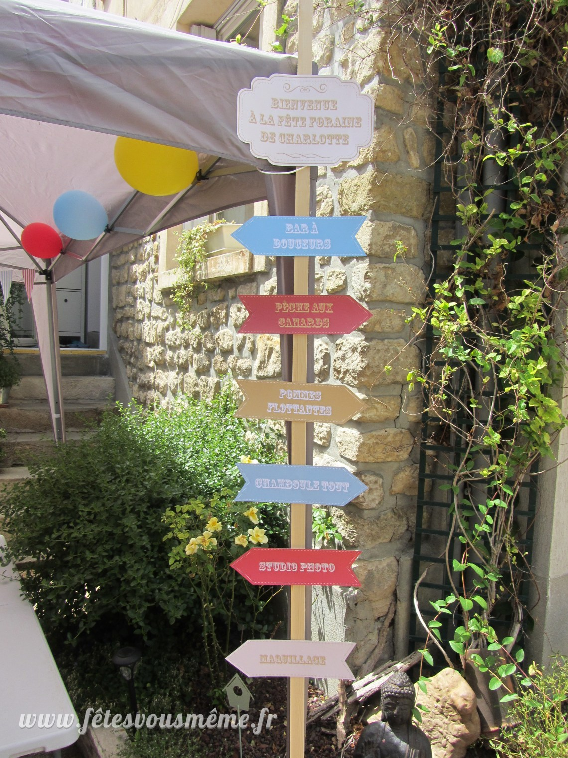 Décoration Fête Foraine - Pancartes fléchées - Fêtes vous même