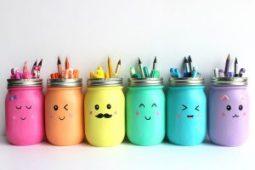 DIY de rentrée - Rangements Jars colorés - Fêtes vous même