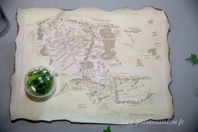 Kit déco Le Seigneur des Anneaux - Carte Terre du Milieu - Fêtes vous même
