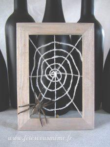 Cadre Toile d'Araignée - Fêtes vous même