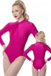 Body-with-front-zip-fastener-Elastane-Fuxia-Strong