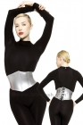 Waist-Corset-Stretchlack-Silver