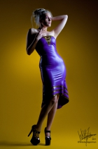 strappless-v-line-flared-dress