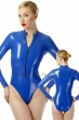Body-with-front-zip-fastener-Stretchlack-Blue
