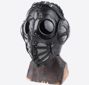 Black Pilot 4 Art Leather Steampunk Gas Mask