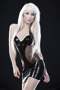 SEXY LATEX DRESS