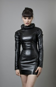 decadant faux leather dress