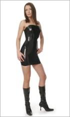 Latex corset dress - mini
