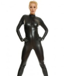Fake Leather Catsuit