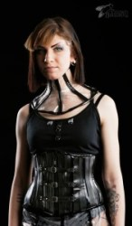 MASQ Recycled black rubber corset 2
