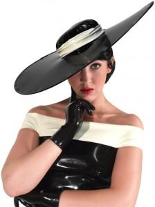 CAP 07 Latex broad-brimmed hat PETRA