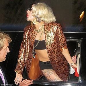 Lady Gaga Wearing Atsuko Kudo Leopard Print Jacket 3