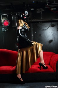 Latex Carmina Gown