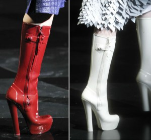 Louis Vuitton High Heel Wellington Boot