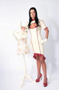 AUDREY latex dress