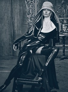 Kate Moss Latex Nun