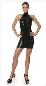 Short latex dress