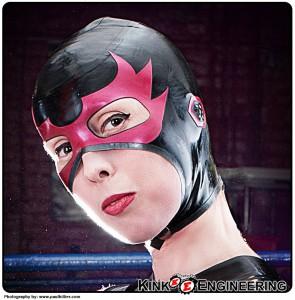 Lucha Latex Flame Eyes Wrestling Hood