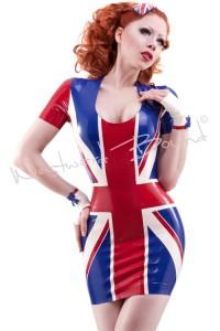 Union Jack Latex Dress R1318
