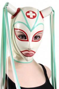Nurse Pigtail Hood with trim
