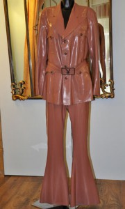 Men's custom made latex Playboy suit