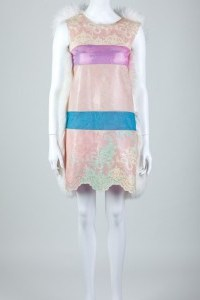 LATEX AND SHEEPSKIN DRESS