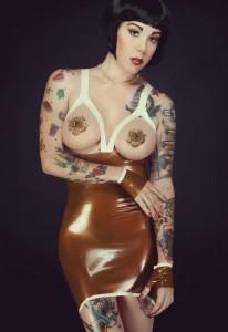 Latex Open Bust Dress