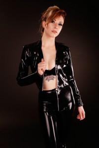 Leather Look Latex Rockette Jacket