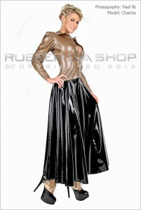 Ankle Length Fully Flared Rubber Skirt