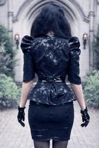 Victorian lace overlay Jacket 2