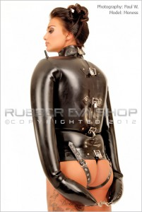 Black Inflatable Rubber Straight Jacket