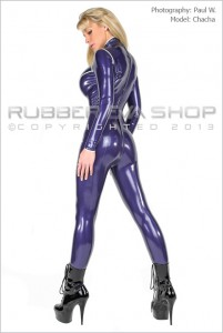 Trimmed Rubber Catsuit 2
