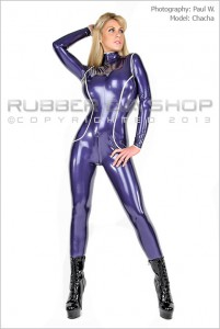 Trimmed Rubber Catsuit