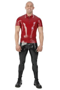 24015 Latex poloshirt, 0,60 mm latex
