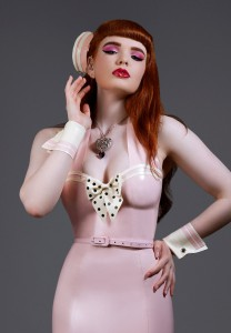 Pin up Cuffs and Pillbox hat