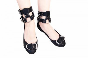 Double Cuff Ballerina black
