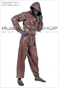 Hooded Rubber Jogging Suit