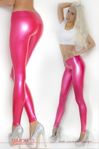 Hipster Rubber Leggings with buckle 1