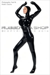 Open Faced Rubber Total Enclosure Catsuit 2