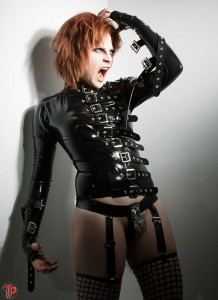 Fetish Buckle Front Latex Straight Jacket