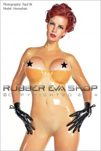 Underwired Half Cup Bra Latex Catsuit