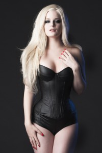 Padded bust cup PVC Overbust Corset 1