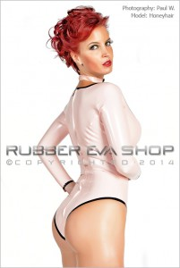 Scooped Neck Long Sleeved Rubber Body 2