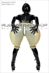 Inflatable Frilly Rubber Bloomers back