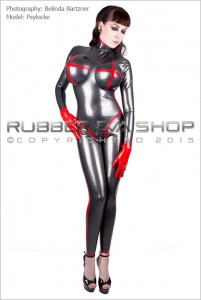 Inflatable Tit Rubber Catsuit 2