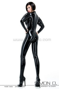 Latex Catsuit with puffed sleeves 2