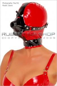 Rubber Anaesthesia Hood With Harness バックルベルト式ハーネス付き麻酔マスクの例