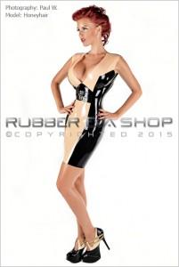 Plunge Neck Rubber Buckle Dress front 1